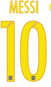 barcelona team Messi 10 numbers