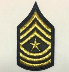 Metal Epaulet woven Patch